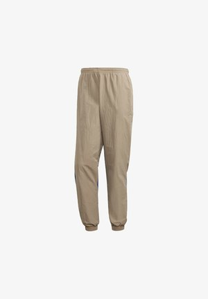 BIG TREFOIL COLORBLOCK WOVEN TRACKSUIT BOTTOMS - Spodnie treningowe - brown