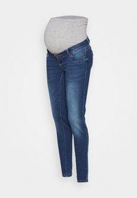 MAMALICIOUS - MLPASO SLIM HIGH BACK  - Jeansy Slim Fit - medium blue denim - 0