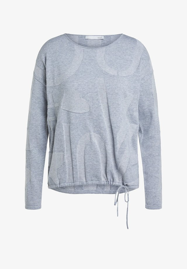 MIT ELASTISCHEM BUND - Jumper - grey