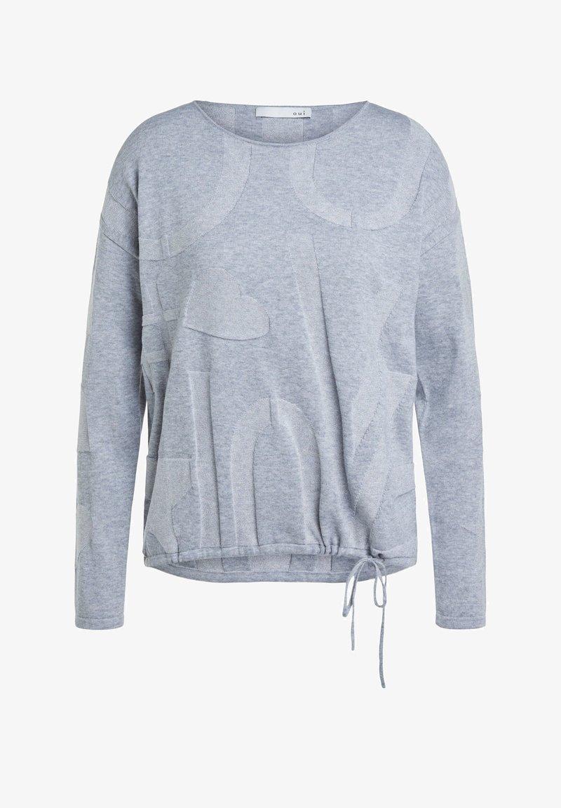 Oui - MIT ELASTISCHEM BUND - Jumper - grey