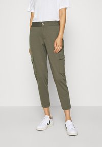 Freequent - FQNANNI ANKLE CAR - Trousers - olive - 2