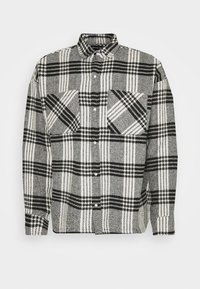 Good For Nothing - BUTTONED HEAVY CHECK RELAXED - Summer jacket - white - 0