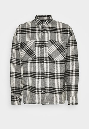 BUTTONED HEAVY CHECK RELAXED - Tunn jacka - white