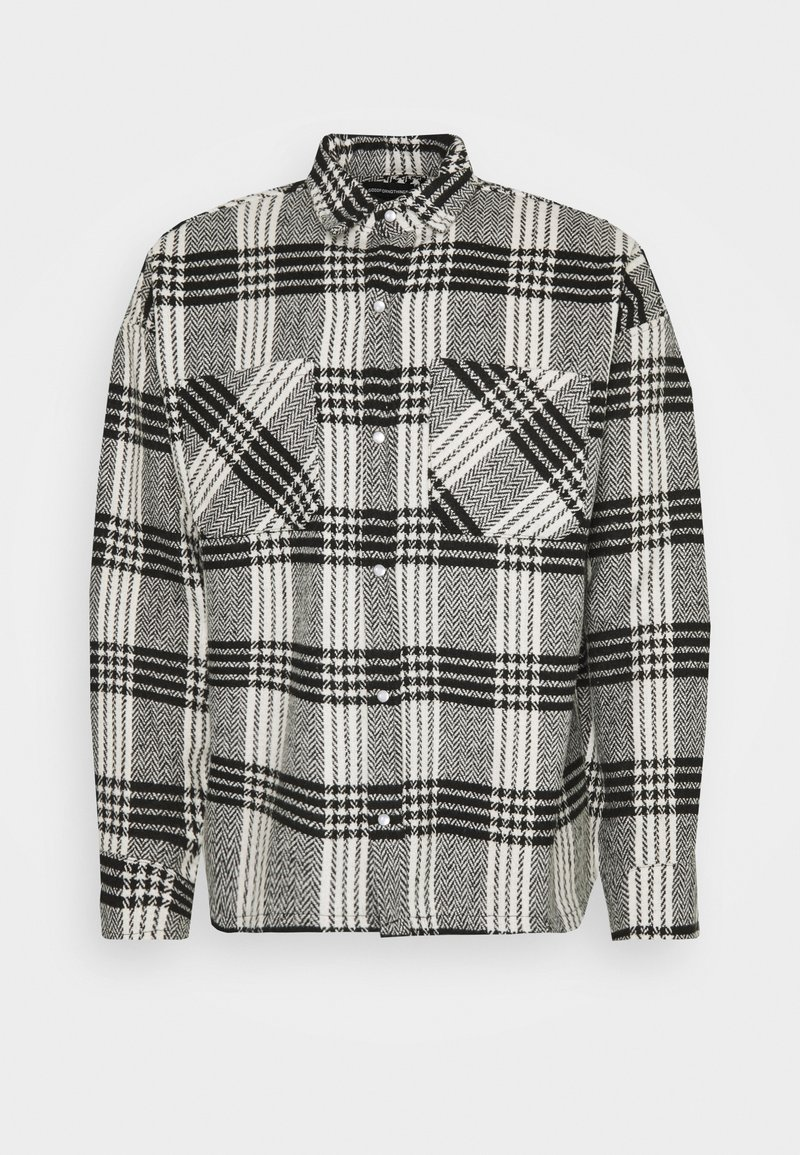 Good For Nothing - BUTTONED HEAVY CHECK RELAXED - Summer jacket - white