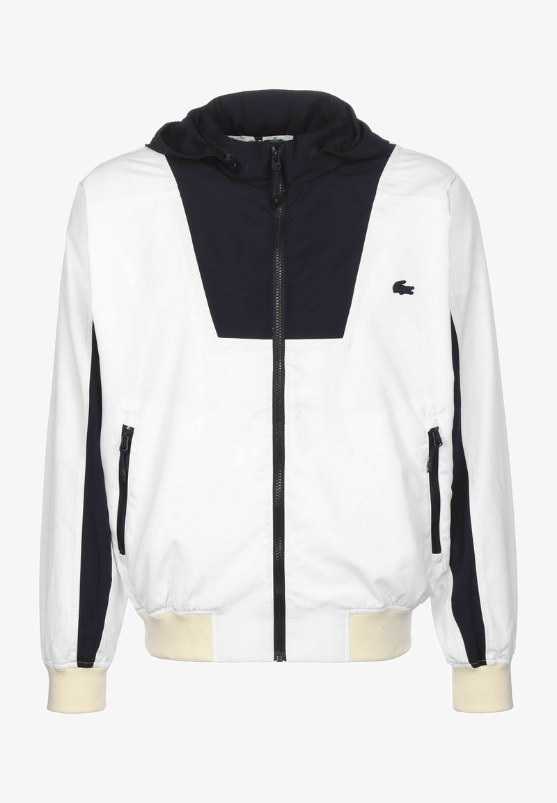 Lacoste - Training jacket - white/abysm-naturel clair