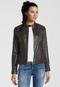 7eleven - URSULA - Leather jacket - chocolate - 0