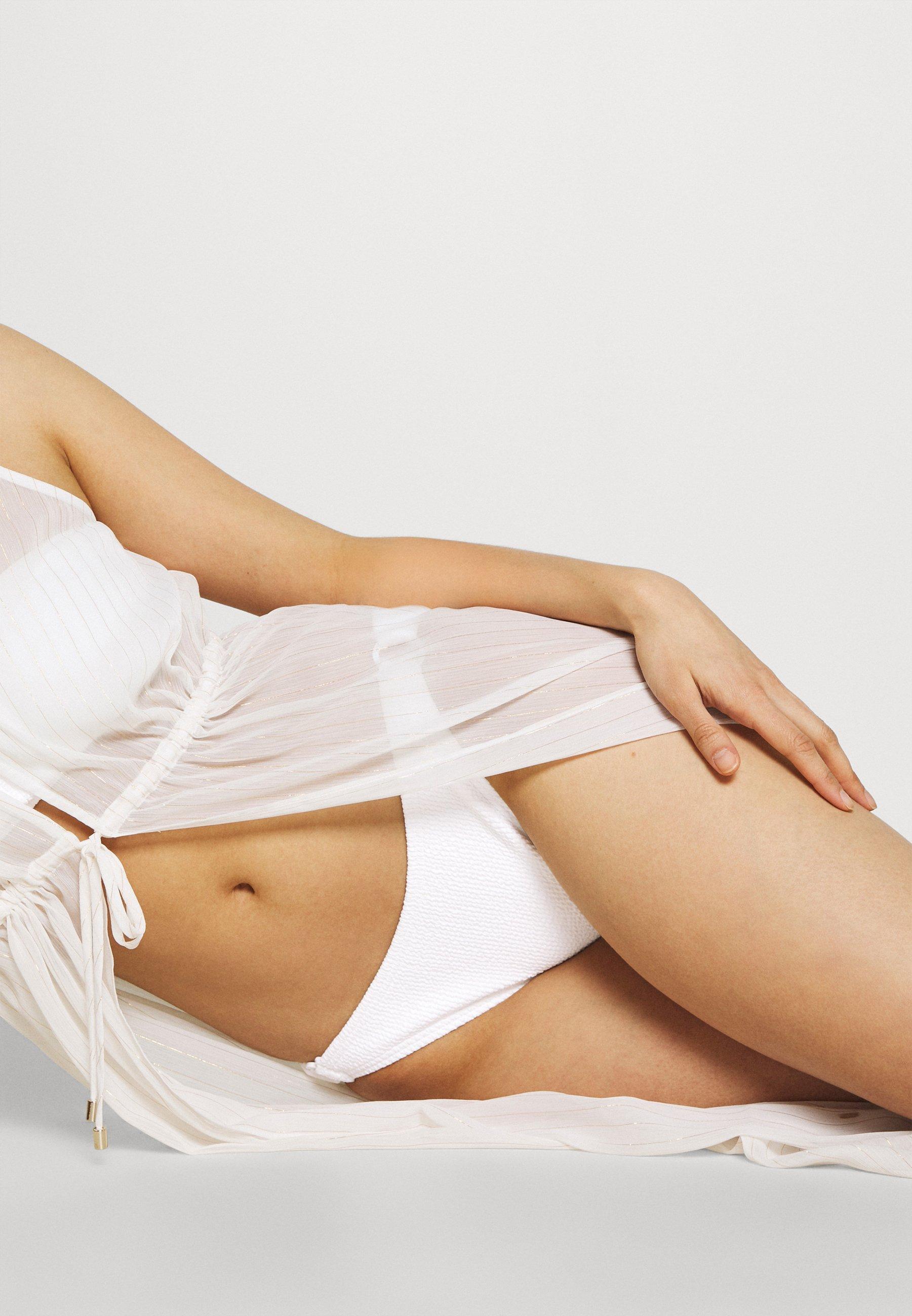Women DECADENT TEXTURE LOGO SIDE RING BOTTOM - Bikini bottoms