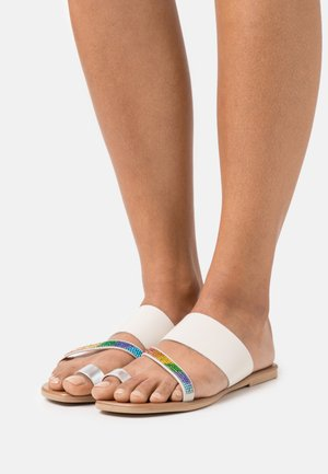 DAWN RAINBOW - T-bar sandals - bone