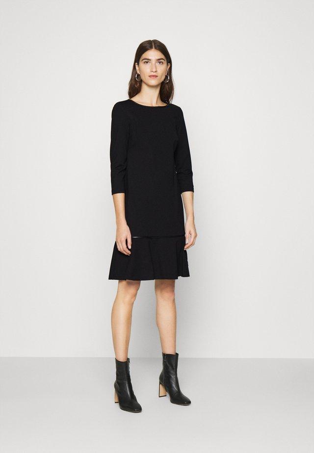 MILANO DROP DRESS - Jersey dress - black