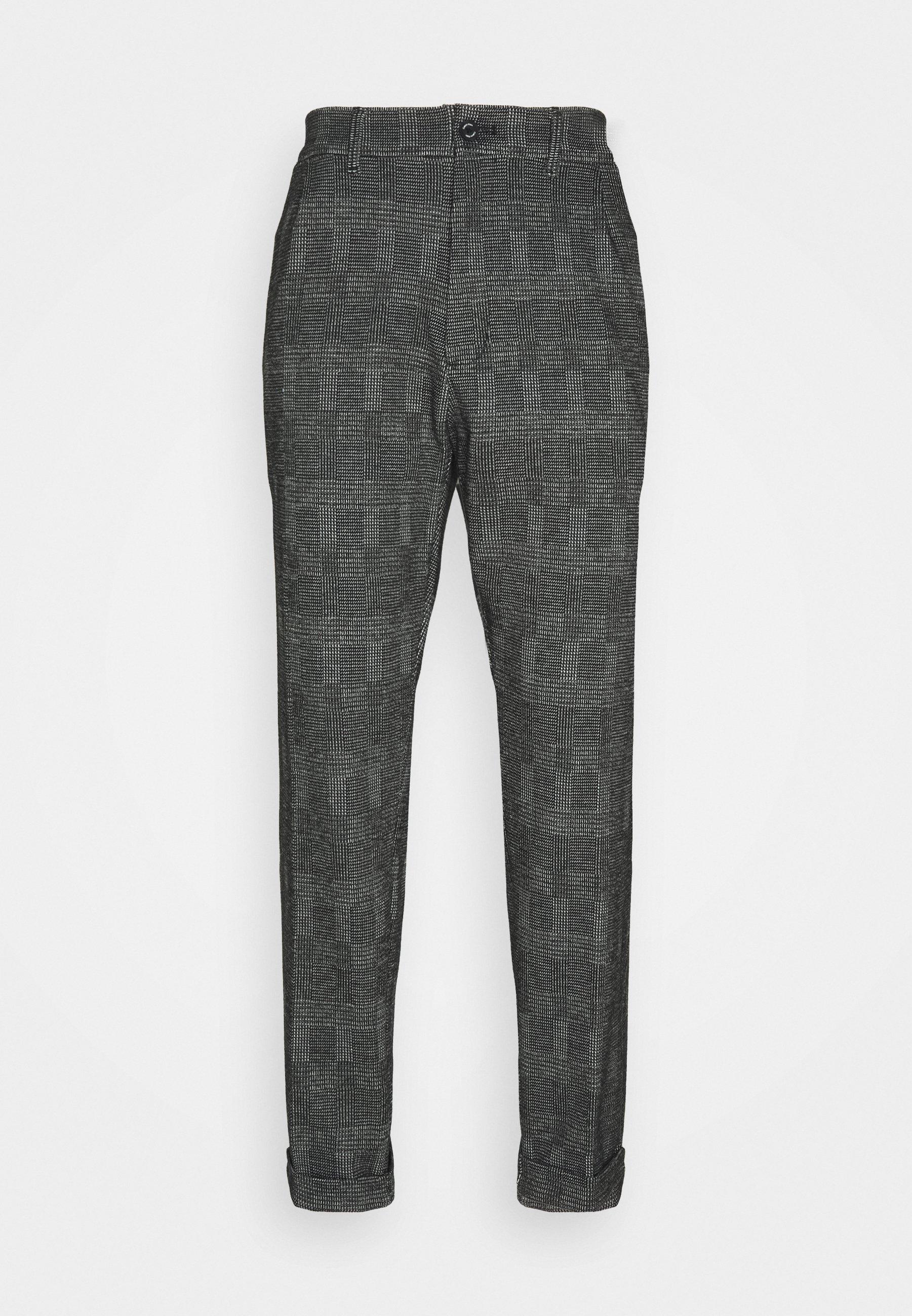Homme TAPERED PLEAT COMFORT CHECK - Pantalon classique