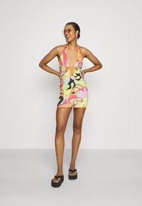Jaded London - PLUNGE HALTER MINI DRESS   - Shift dress - multi - 1