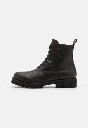 NEW COMBAT BOOT - Nauhalliset nilkkurit - black