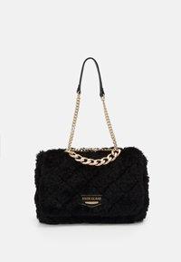 River Island - FLUFFY QUILTED SHOULDER BAG - Handbag - black - 0