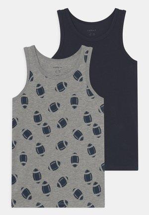 NKMTANK RUGBY 2 PACK - Camiseta interior - grey melange