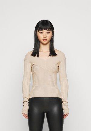 Sweter - beige melange