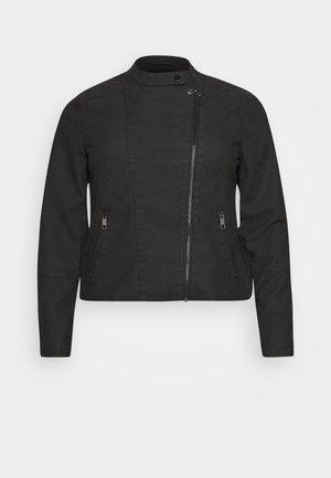 MISABELLA JACKET - Imiteret læderjakke - black