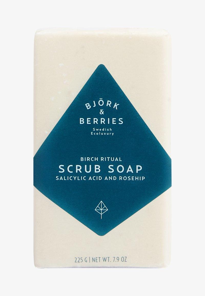 Björk & Berries - BARTPFLEGE EXFOLIATING BATH SOAP - Soap bar - -