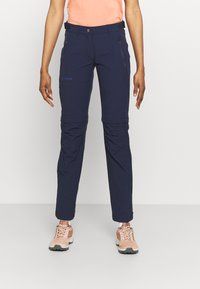 Vaude - WOMENS FARLEY STRETCH ZIP PANTS - Trousers - eclipse - 0