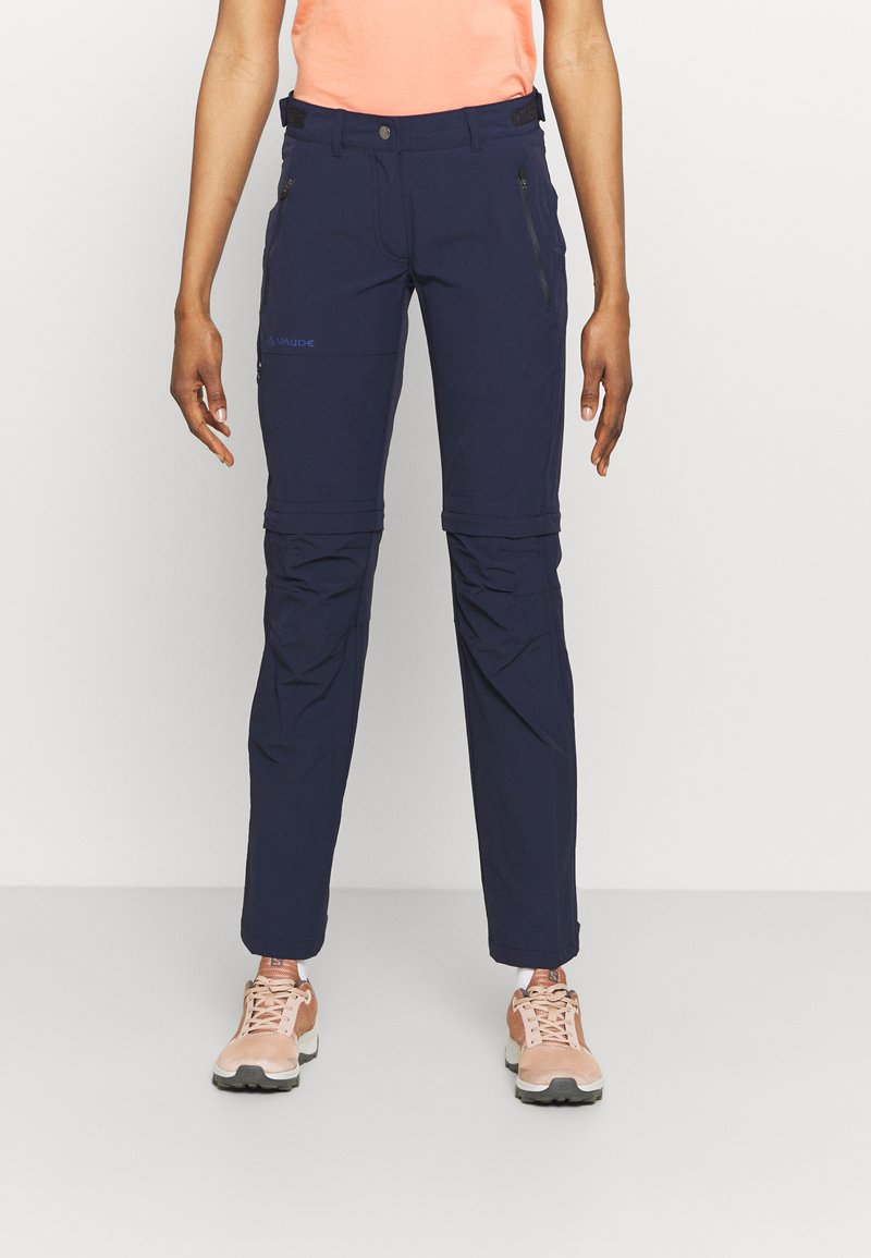 Vaude - WOMENS FARLEY STRETCH ZIP PANTS - Trousers - eclipse