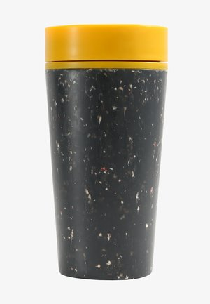 CIRCULAR & CO KAFFEEBECHER TO GO MIT DECKEL - 340 ML - Vattenflaska - schwarz / gelb