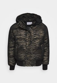 Calvin Klein Jeans - ZEBRA PUFFER - Light jacket - irish cream/black - 0