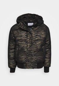 ZEBRA PUFFER - Light jacket - irish cream/black