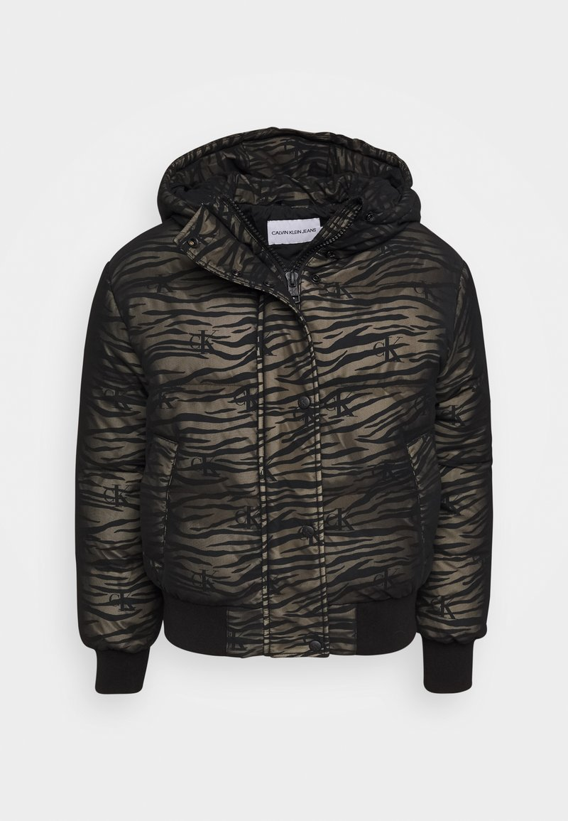 Calvin Klein Jeans - ZEBRA PUFFER - Light jacket - irish cream/black