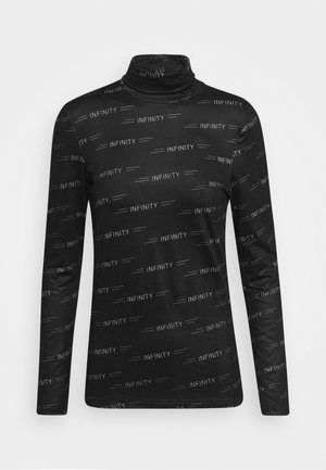 PCNALA PRINT TURTLE NECK - Langarmshirt - black