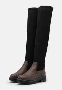 River Island Wide Fit - Over-the-knee boots - brown/black - 2
