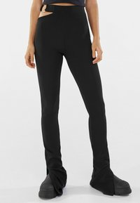 Bershka - Trousers - black - 0