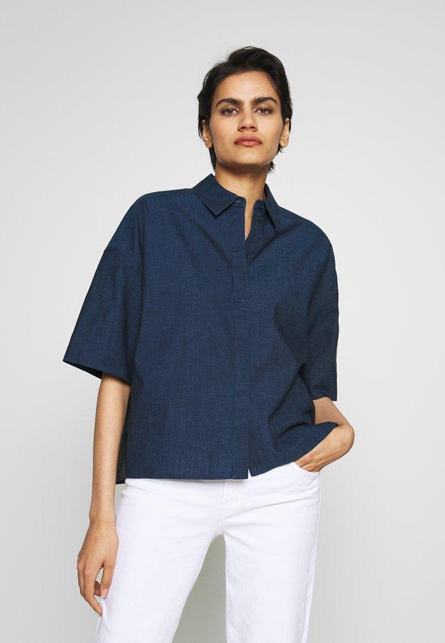 THERRY - Button-down blouse - dark blue denim