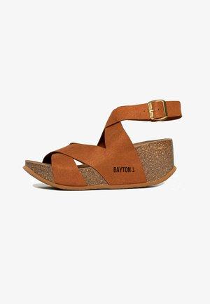 MURCIA - Wedge sandals - tan