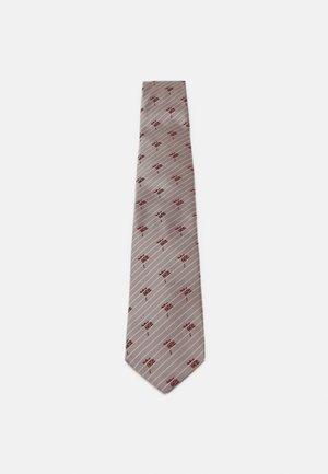 Tie - beige/red