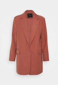 YASULLO - Krátký kabát - dusty cedar