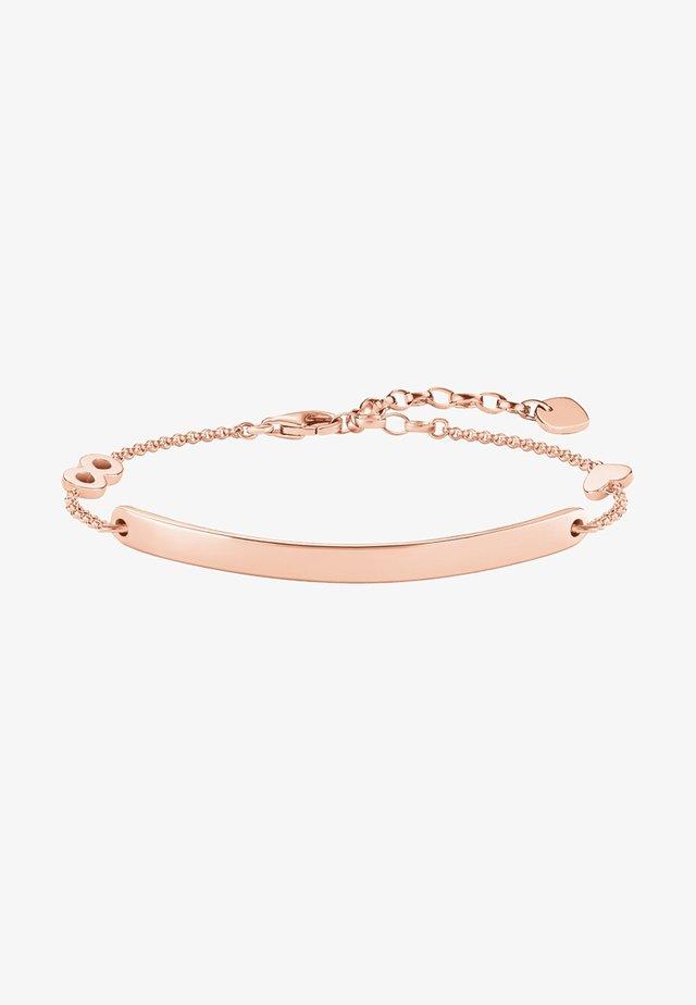 HERZ MIT INFINITY  - Bracelet - rosegold-coloured