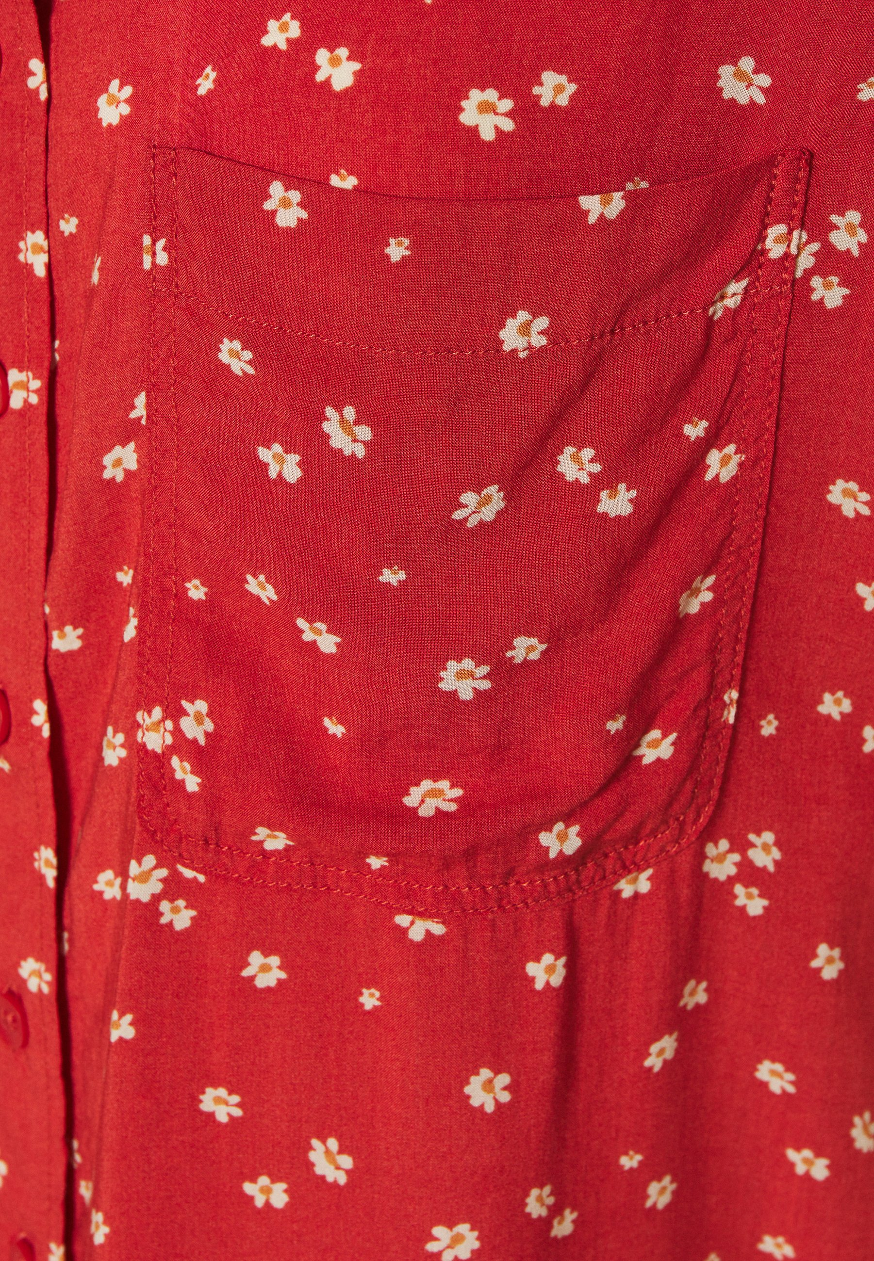 American Eagle CORE CROP - Overhemdblouse - red - Dameskleding AAA-kwaliteit