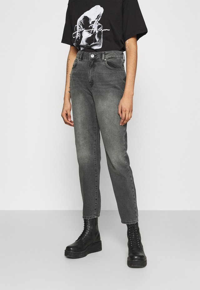 NMISABEL ANKLE MOM - Jean droit - dark grey denim