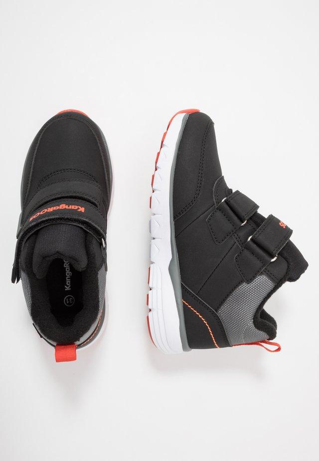 K-TS BRAN RTX - Sneakersy wysokie - jet black/flame