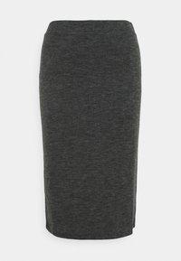 Vila - VIMANY  - Pencil skirt - dark grey melange - 4
