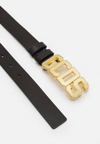 GCDS - BELT WITH LOGO - Belt - black/gold-coloured - 1