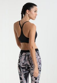 Nike Performance - INDY  - Light support sports bra - black/black/black/white - 2