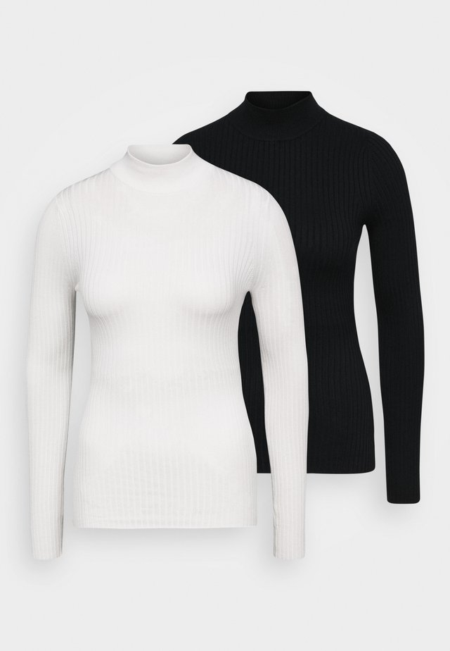 2 PACK - Jumper - black/white