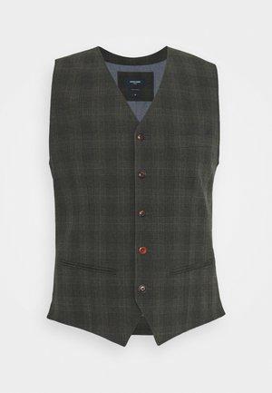 JPRBLUCONNOR WAISTCOAT - Waistcoat - dark grey