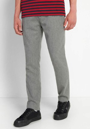 Trousers - mid grey marl