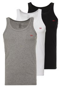 Diesel - UMTK-JOHNNYTHREEPACK SINGLET 3 PACK - Undershirt - grey/black/white - 0