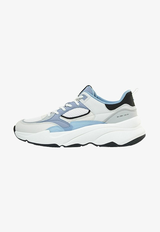 Sneakers laag - light blue, white