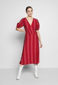 Stevie May - GRACIE MIDI DRESS - Day dress - red - 1