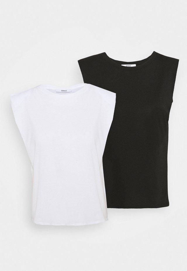 ONLPERNILLE 2 PACK - T-shirt basic - black/white