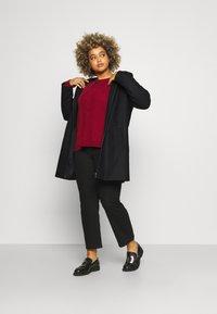 Vero Moda Curve - VMMOLLYHOODIE JACKET - Classic coat - black - 1