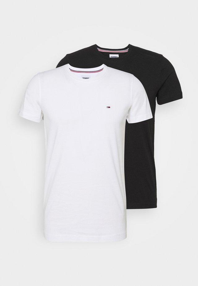 CNECK TEES 2 PACK - T-paita - white / black